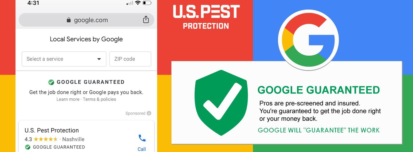 Google Guaranteed U.S. Pest Local Service Provider
